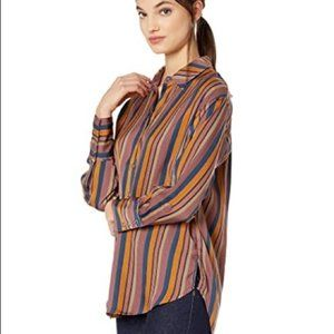 Free People All Smiles top in blue stripes